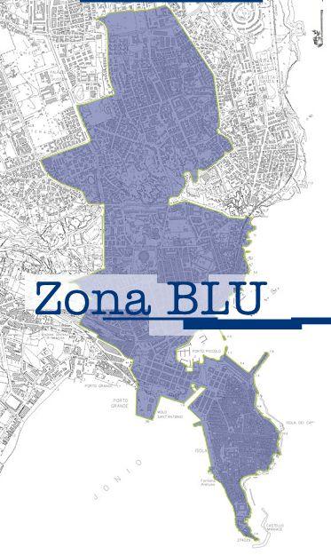 Mappa della zona blu a Siracusa