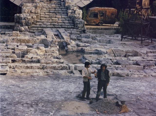 INDA 1996. Coefore, regia di Giorgio Pressburger. Oreste e Pilade sulla tomba di Agamennone